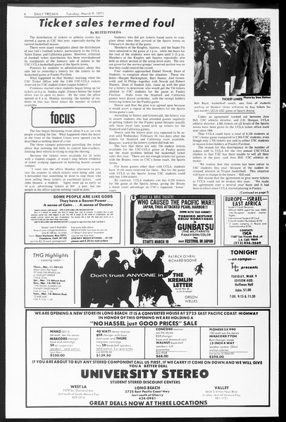 Daily Trojan, Vol. 62, No. 84, March 09, 1971