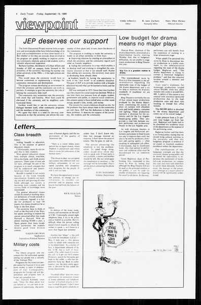 Daily Trojan, Vol. 89, No. 5, September 19, 1980