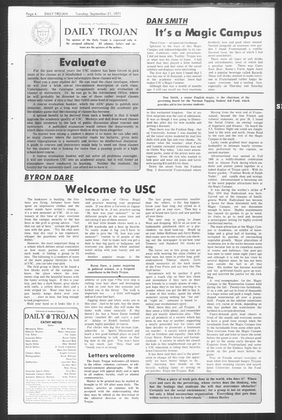 Daily Trojan, Vol. 64, No. 2, September 21, 1971