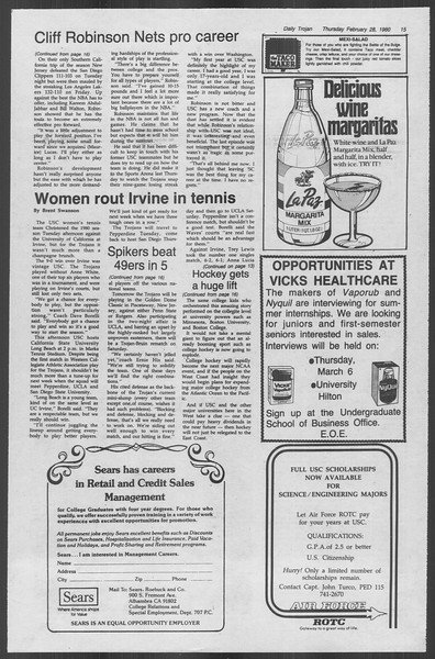 Daily Trojan, Vol. 88, No. 17, February 28, 1980