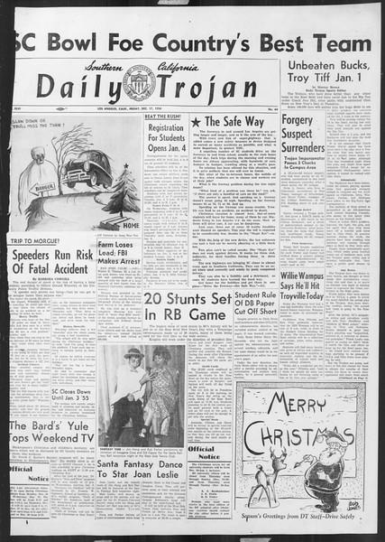 Daily Trojan, Vol. 46, No. 64, December 17, 1954