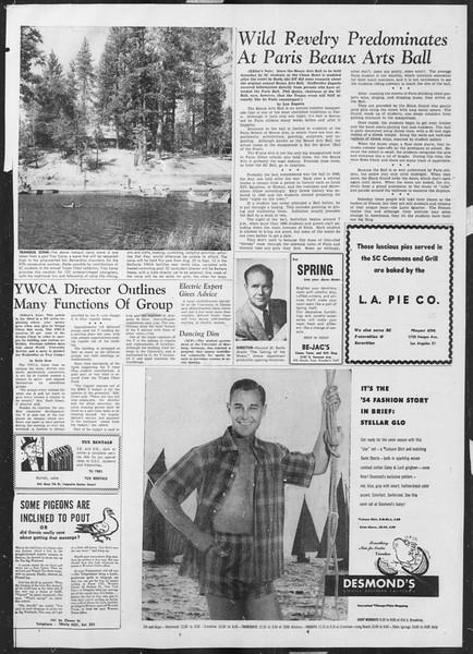 Daily Trojan, Vol. 45, No. 103, March 29, 1954