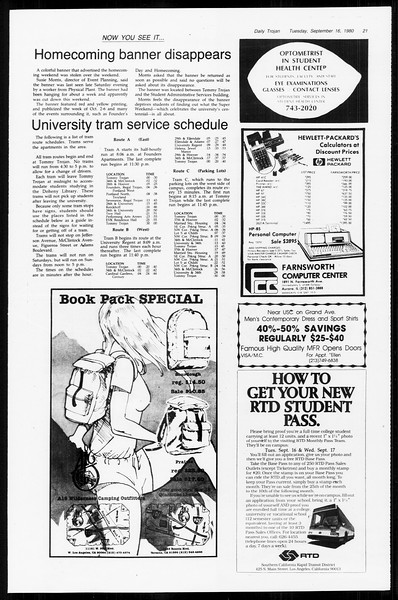 Daily Trojan, Vol. 89, No. 2, September 16, 1980