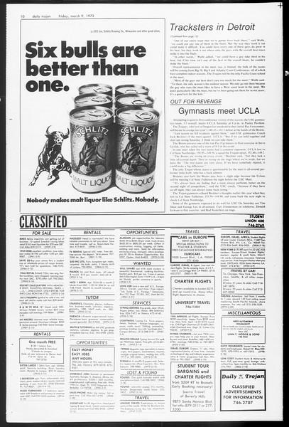 Daily Trojan, Vol. 65, No. 87, March 09, 1973