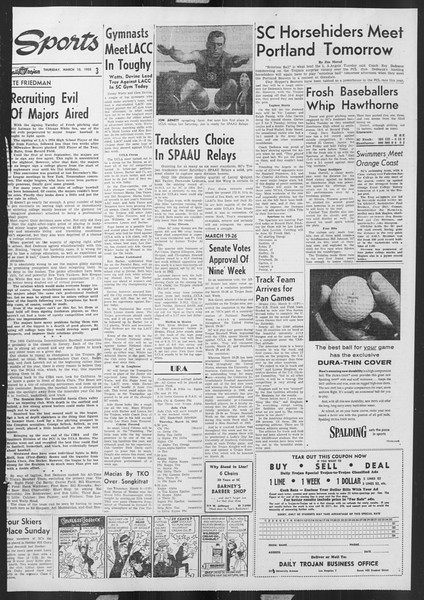 Daily Trojan, Vol. 46, No. 94, March 10, 1955