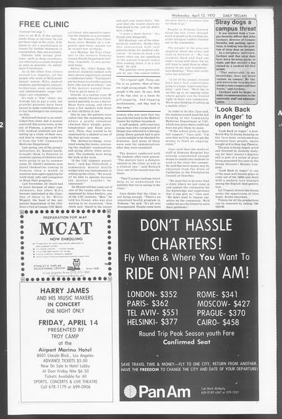 Daily Trojan, Vol. 64, No. 102, April 12, 1972