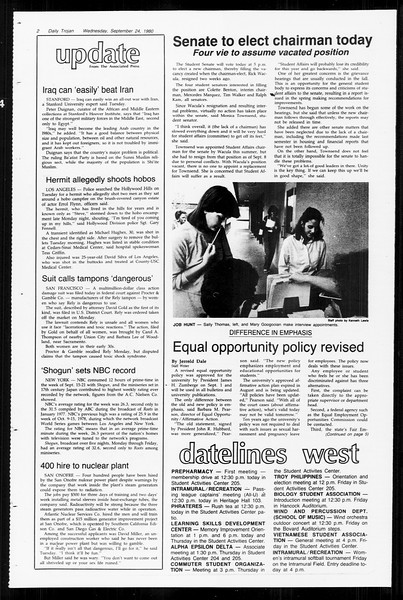 Daily Trojan, Vol. 89, No. 8, September 24, 1980