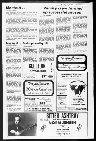 Daily Trojan, Vol. 62, No. 118, May 06, 1971