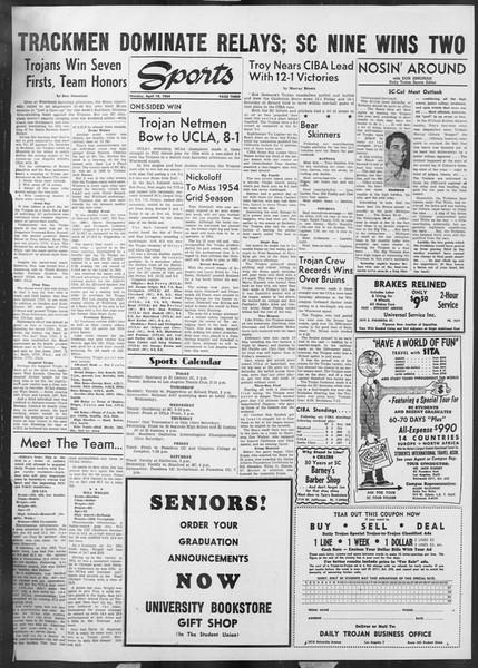 Daily Trojan, Vol. 45, No. 113, April 19, 1954