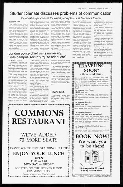 Daily Trojan, Vol. 89, No. 17, October 08, 1980