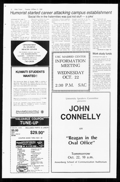 Daily Trojan, Vol. 89, No. 25, October 21, 1980