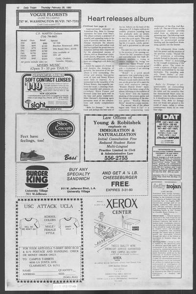 Daily Trojan, Vol. 88, No. 17, February 28, 1980