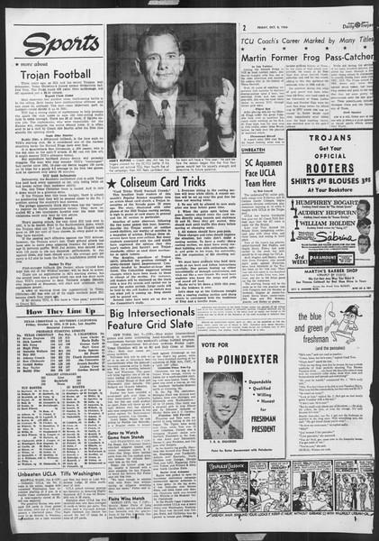Daily Trojan, Vol. 46, No. 16, October 08, 1954