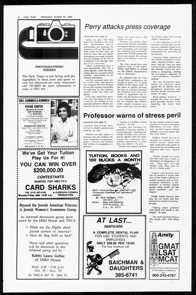 Daily Trojan, Vol. 89, No. 31, October 29, 1980