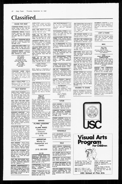 Daily Trojan, Vol. 89, No. 4, September 18, 1980