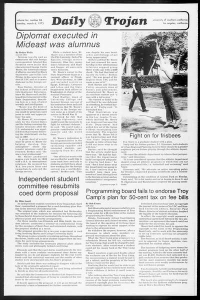 Daily Trojan, Vol. 65, No. 84, March 06, 1973