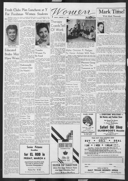 Daily Trojan, Vol. 46, No. 77, February 15, 1955