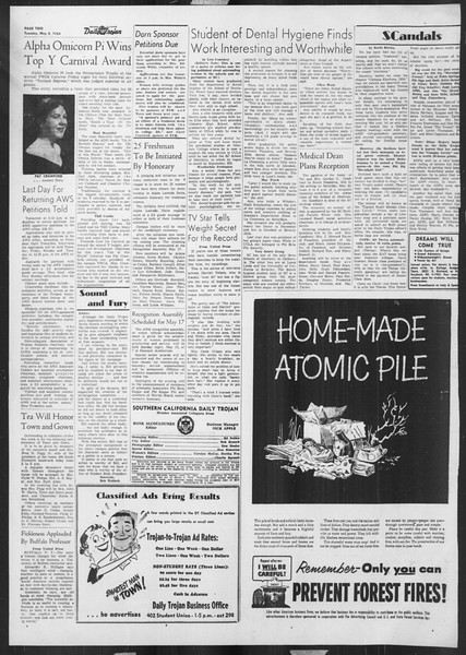 Daily Trojan, Vol. 45, No. 124, May 04, 1954