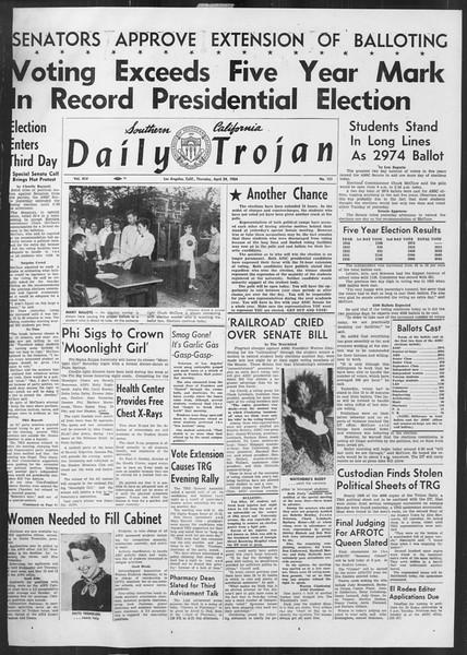 Daily Trojan, Vol. 45, No. 121, April 29, 1954