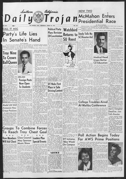 Daily Trojan, Vol. 46, No. 103, March 23, 1955