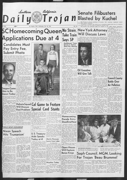 Daily Trojan, Vol. 46, No. 24, October 20, 1954