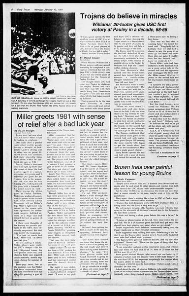 Daily Trojan, Vol. 89, No. 65, January 12, 1981