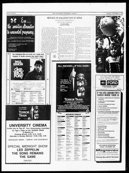 The Southern California Trojan, Vol. 89, No. 15, October 03, 1980