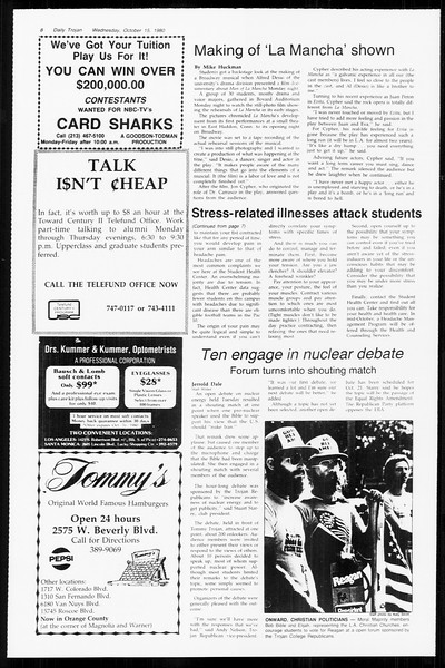 Daily Trojan, Vol. 89, No. 22, October 15, 1980