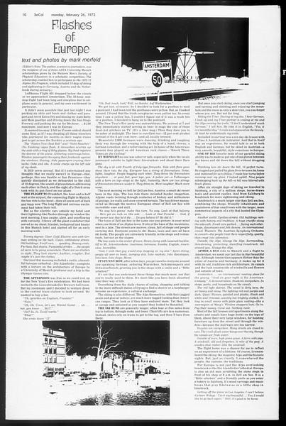SoCal, Vol. 65, No. 79, February 26, 1973