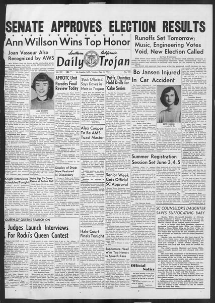 Daily Trojan, Vol. 45, No. 134, May 18, 1954