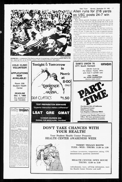 Daily Trojan, Vol. 89, No. 11, September 29, 1980