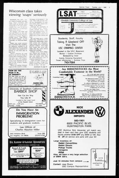 Summer Trojan, Vol. 89, No. 6, July 01, 1980