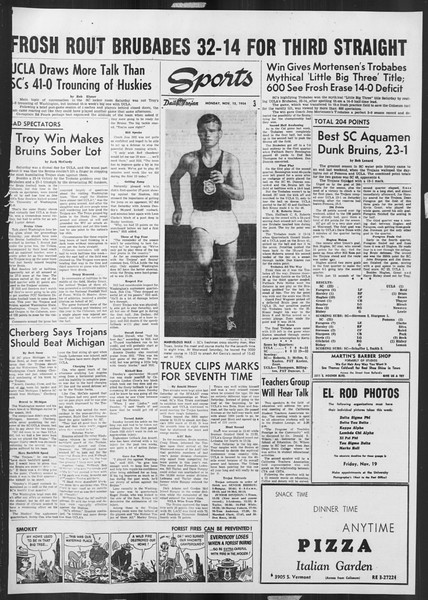 Daily Trojan, Vol. 46, No. 42, November 15, 1954