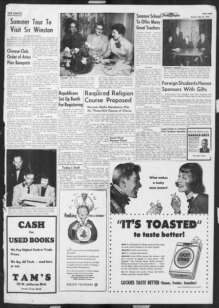 Daily Trojan, Vol. 45, No. 138, May 24, 1954