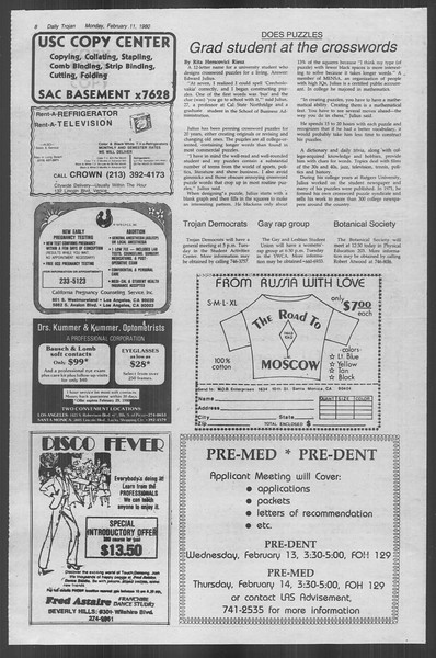 Daily Trojan, Vol. 88, No. 6, February 11, 1980