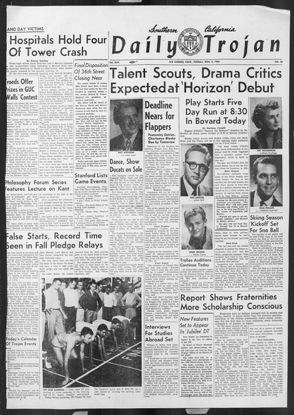 Daily Trojan, Vol. 46, No. 33, November 02, 1954