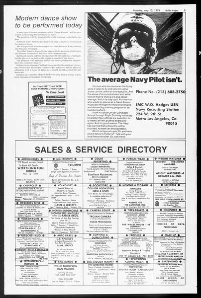 Daily Trojan, Vol. 65, No. 124, May 10, 1973
