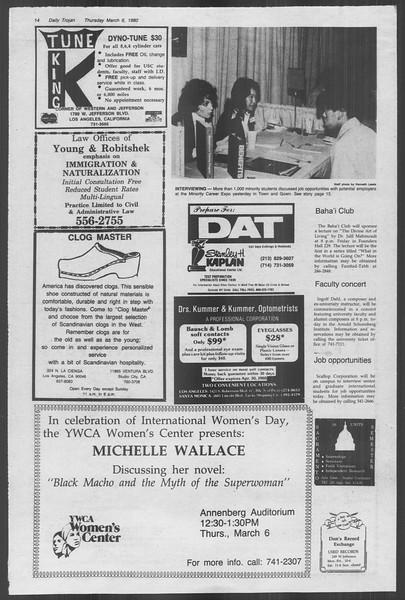 Daily Trojan, Vol. 88, No. 22, March 06, 1980