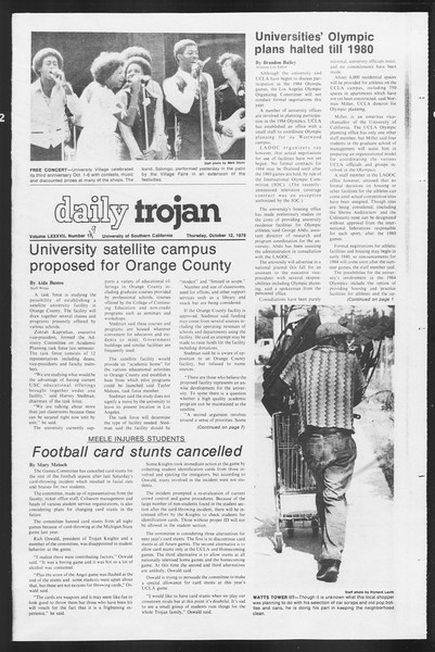 Daily Trojan, Vol. 87, No. 19, October 11, 1979