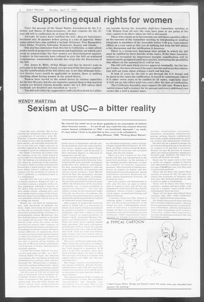 Daily Trojan, Vol. 64, No. 105, April 17, 1972