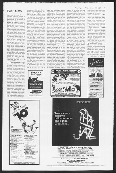 Daily Trojan, Vol. 87, No. 66, January 11, 1980