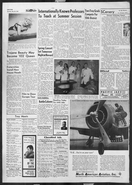 Daily Trojan, Vol. 45, No. 136, May 20, 1954