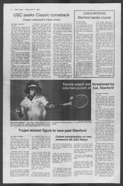 Daily Trojan, Vol. 88, No. 42, April 11, 1980