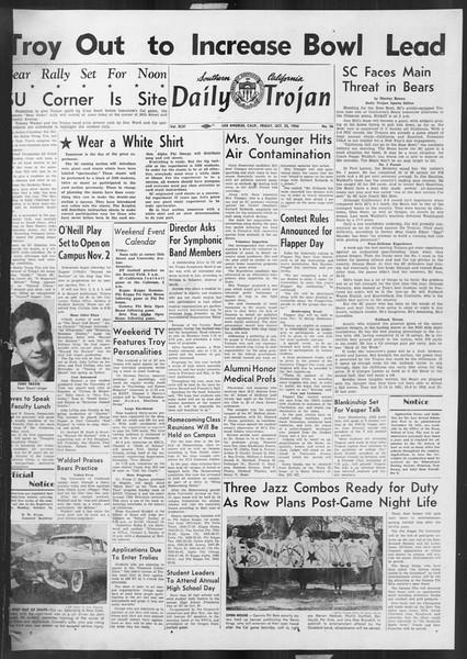 Daily Trojan, Vol. 46, No. 26, October 22, 1954