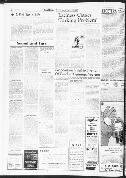 Daily Trojan, Vol. 47, No. 39, November 09, 1955