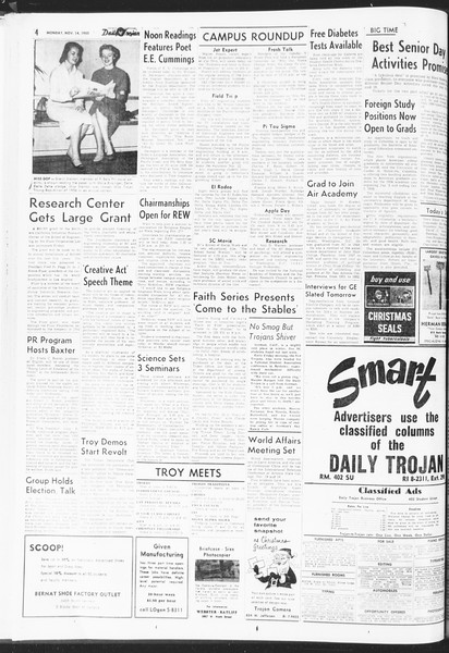 Daily Trojan, Vol. 47, No. 42, November 14, 1955