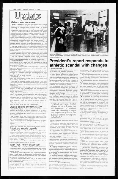 Daily Trojan, Vol. 89, No. 20, October 13, 1980
