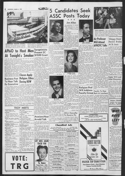 Daily Trojan, Vol. 46, No. 88, March 02, 1955