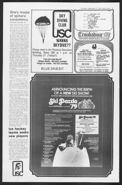Daily Trojan, Vol. 87, No. 9, September 27, 1979