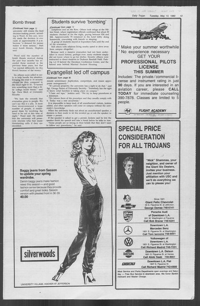 Daily Trojan, Vol. 88, No. 64, May 13, 1980